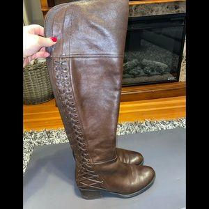 Vince Camuto Knee High Genuine Leather Boots